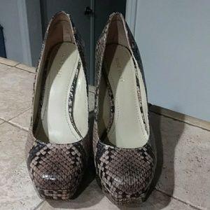 Nine West snakeskin heels